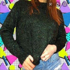 H&M Plus Size Hunter Green Fuzzy Christmas Sweater